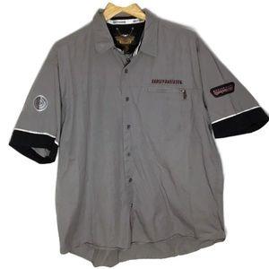 Harley Davidson men's biker shirts XL Gray